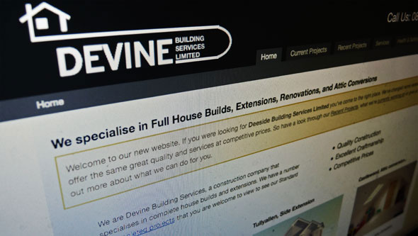 Devine Building Services Promo Screen Shot