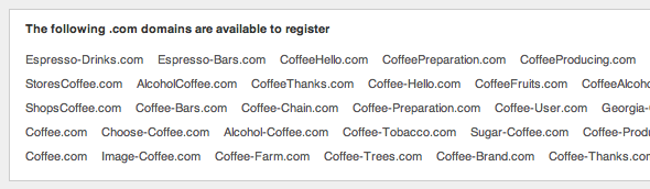 Espresso Related domain search