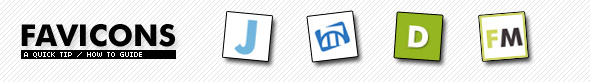 Favicons quick tip banner