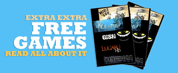 Extra Extra Free Games Read all about it