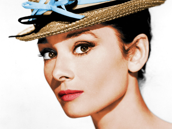 Converting A Black And White Photo Of Audrey Hepburn Into Colour
